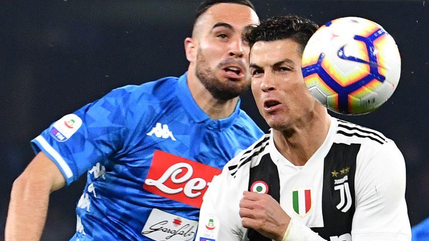 Nikola Maksimovic und Cristiano Ronaldo im Duell