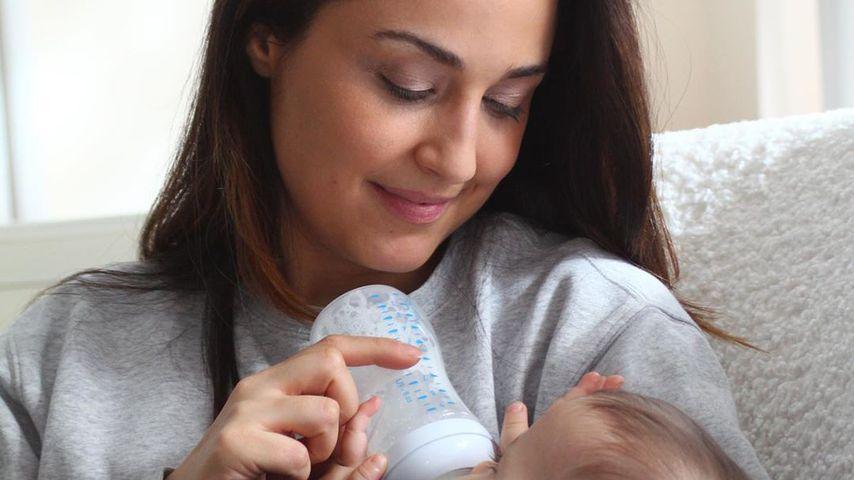 Nina Moghaddam und ihr Kind