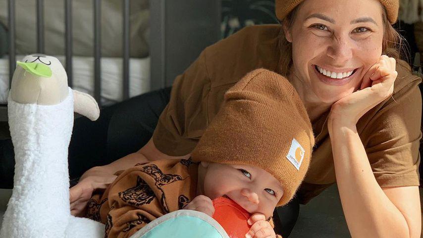 Nina Noel mit ihrem Sohn Lyano Lyon, Mai 2020