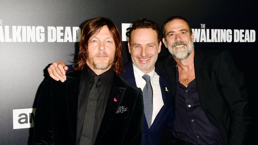 """The Walking Dead""-Stars Norman Reedus, Andrew Lincoln und Jeffrey Dean Morgan, 2018"
