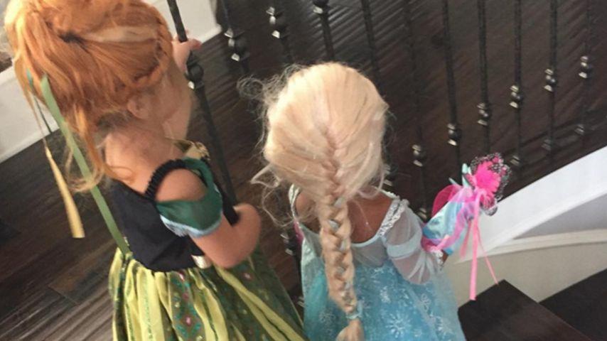 Für Halloween: Nori & Penelope als süße Frozen-Prinzessinnen