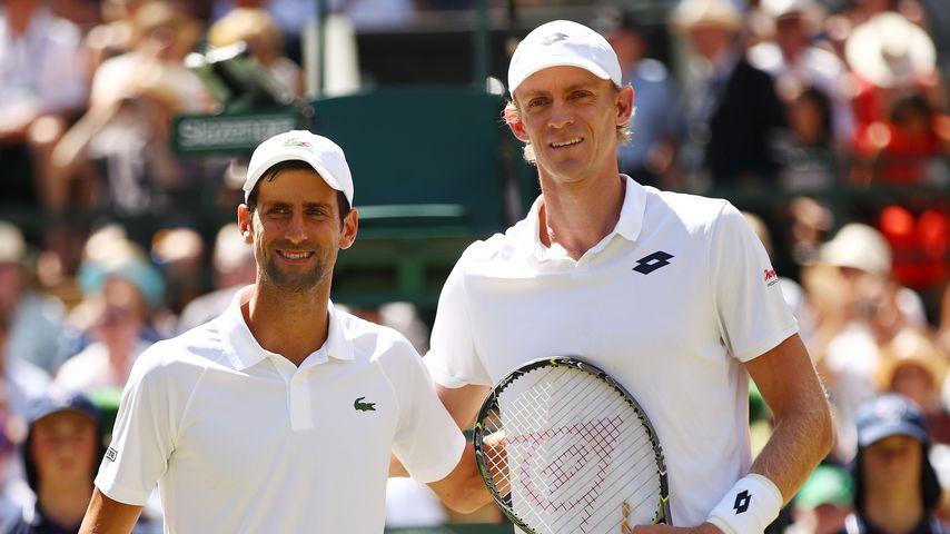 Novak Djokovic und Kevin Anderson im Männerfinale von Wimbledon 2018