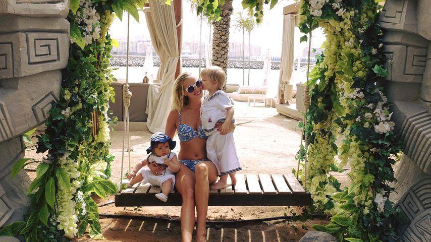 Oksana Kolenitchenko mit ihren Kindern Arielle und Milan