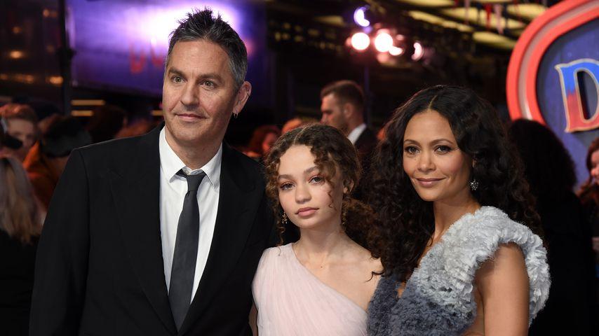 Ol Parker und Thandie Newton mit ihrer Tochter Nico Parker