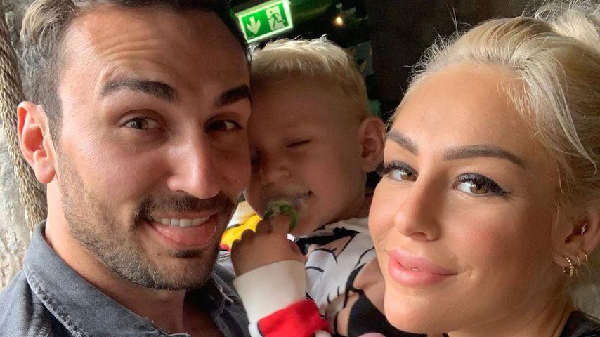 Oleg Justus und Samantha Justus mit ihrem gemeinsamen Sohn Ilja
