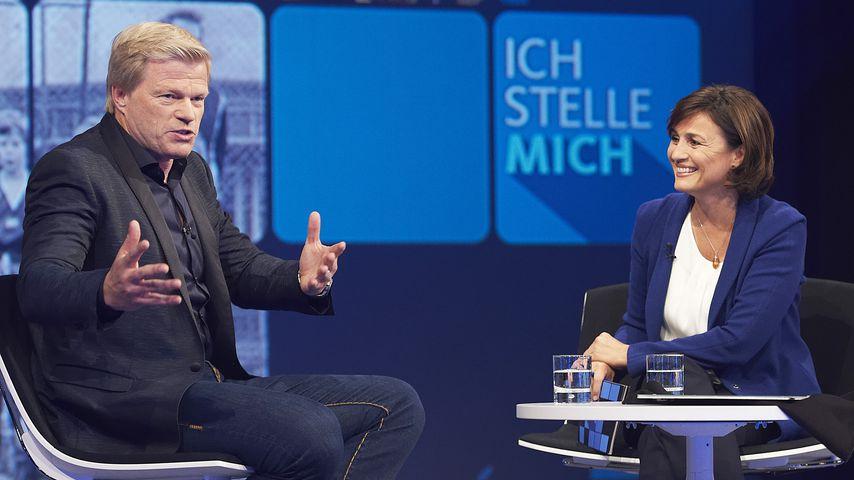 """Oliver Kahn und Sandra Maischberger bei """"Ich stelle mich"""" im WDR"""