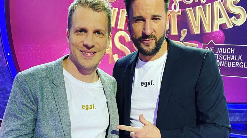 Oliver Pocher und Michael Wendler im Mai 2020
