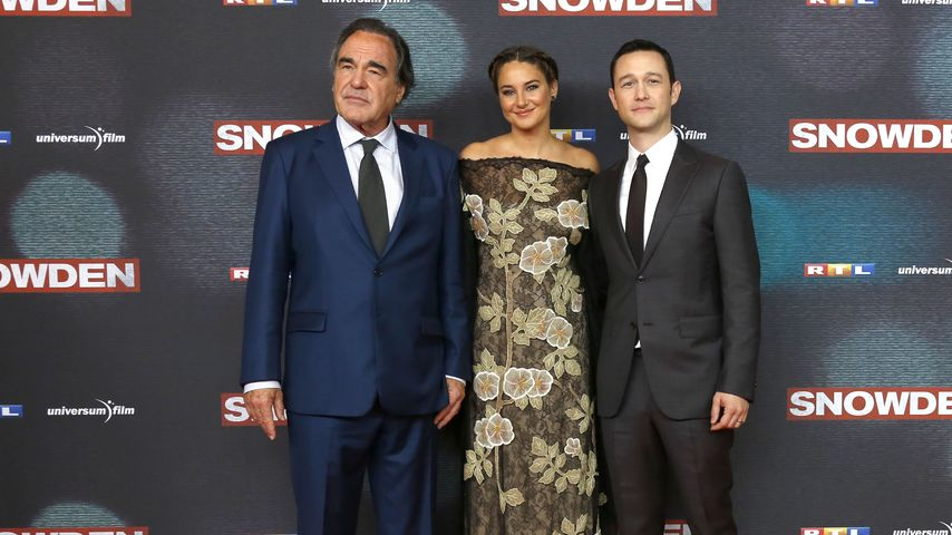 """Oliver Stone, Shailene Woodley und Joseph Gordon-Levitt bei der """"Snowden"""" Europapremiere in München"""