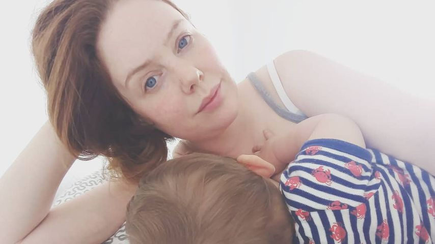 Olivia Marei mit ihrem Sohn