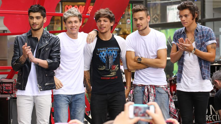 One Direction performen am Rockefeller Center in NYC im August 2013