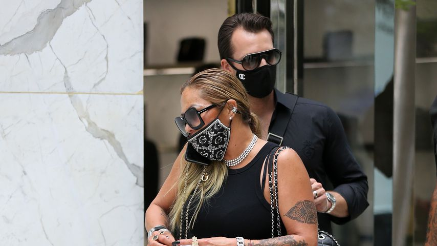 Orianne Cevey mit ihrem neuen Mann Thomas Bates