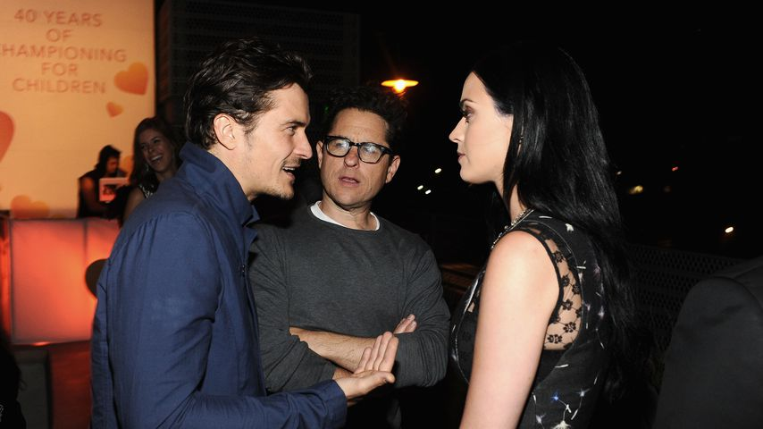 Orlando Bloom, J. J. Abrams und Katy Perry