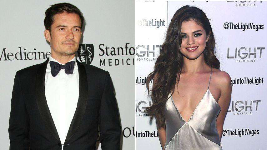 Knutscherei! Geht Orlando Bloom hier mit Selena Gomez fremd?