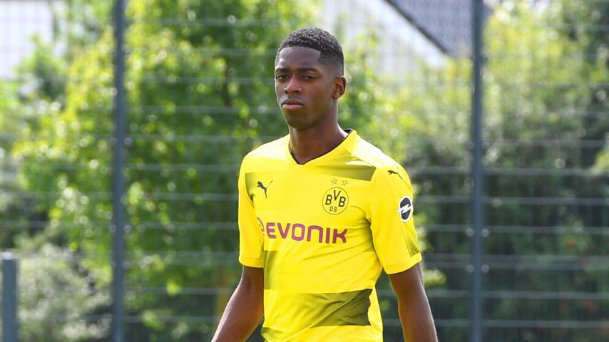 Ousmane Dembélé auf dem Fußballplatz