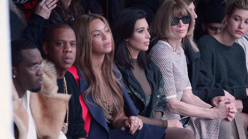 Kim Kardashian, Beyoncé Knowles, Jay-Z, P. Diddy und Anna Wintour