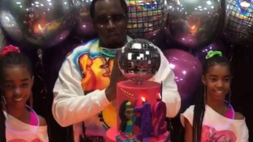 P. Diddy mit seinen Zwillingen an ihrer Geburtstagsfeier