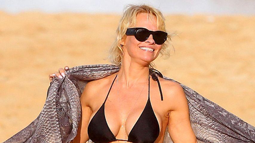 In Baywatch-Form: Pam Anderson feiert Bikini-X-mas