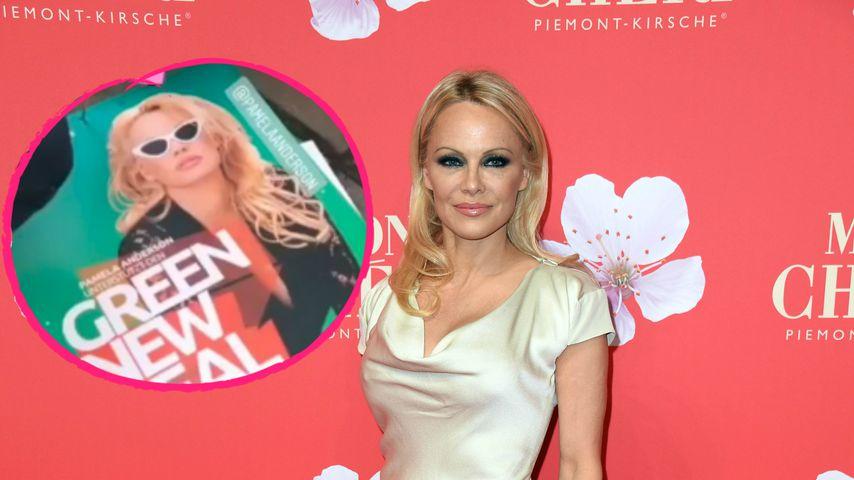 Pamela Anderson auf Wahlplakaten in Deutschland zu sehen!