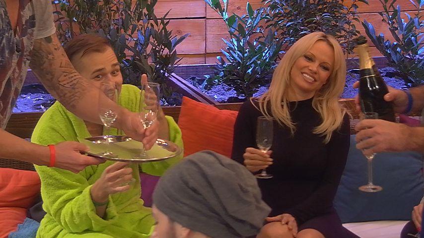 Pamela Anderson bei BB: Champagner-Party mit den Bewohnern
