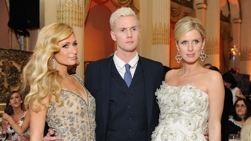 Paris, Barron und Nicky Hilton in New York