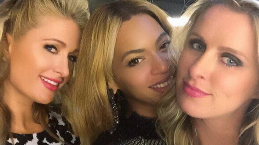 Beyonce, Paris Hilton und Nicky Hilton