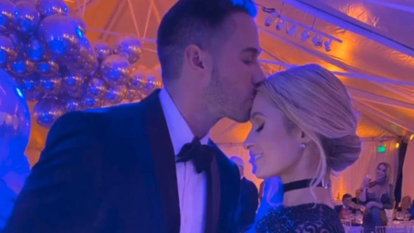 Carter Reum und Paris Hilton im Februar 2020