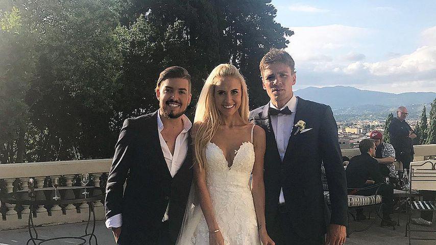 Pat Wind mit Alena und Clemens Fritz