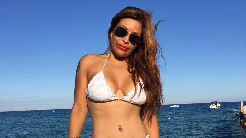 Patricia Blanco am Strand