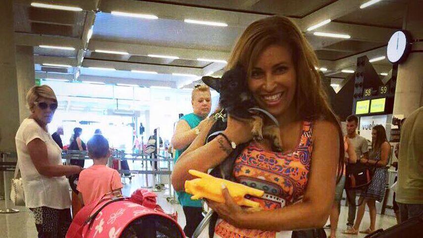 Patricia Blanco mit ihrem neuen Hund