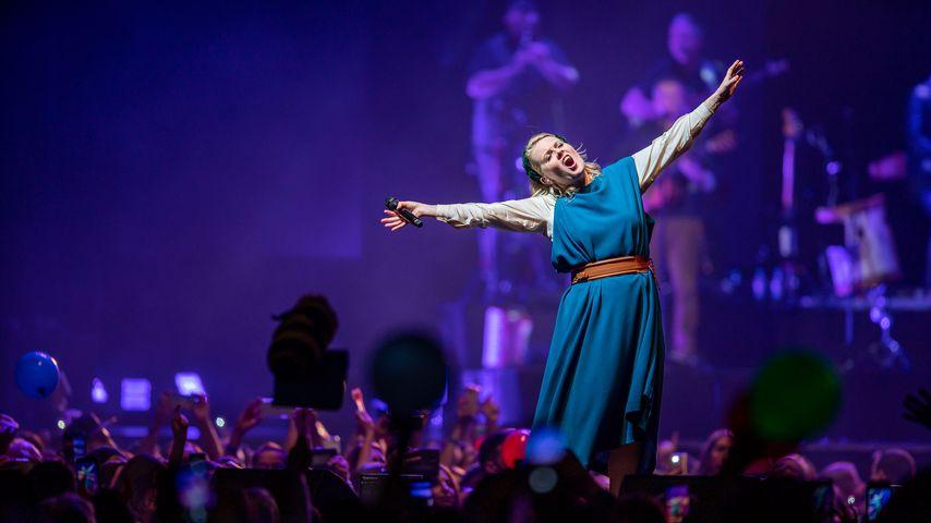 Sängerin Patricia Kelly bei einem Konzert in Köln