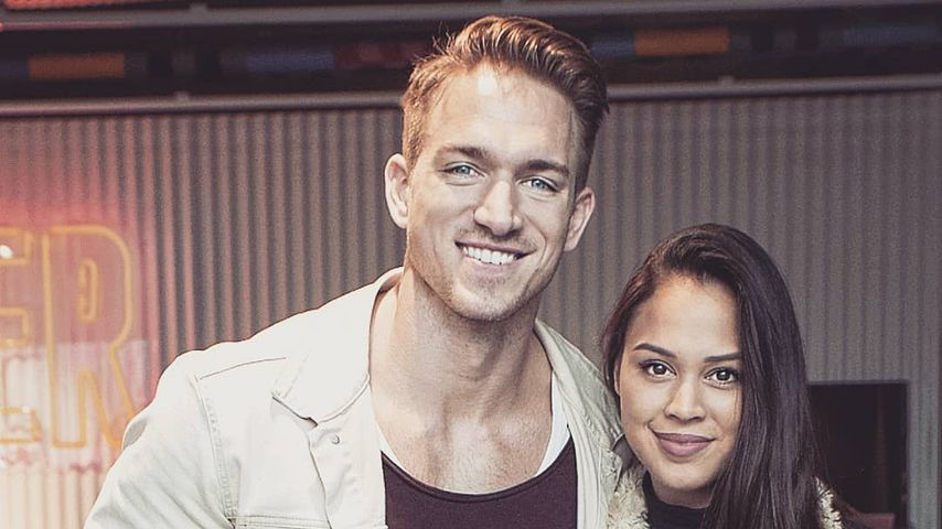 Patrick Fabian und seine Freundin Lea, Oktober 2019