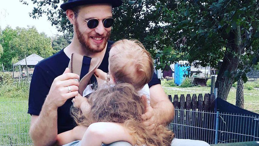 Patrick Müller mit seinen Kindern