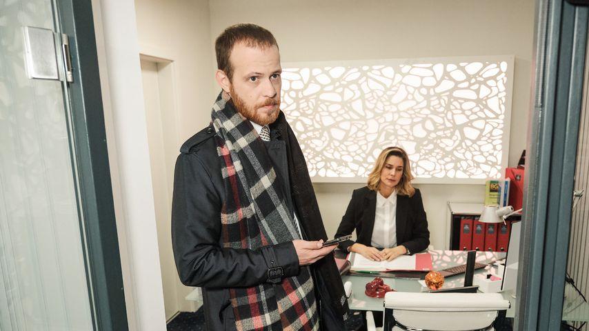 """Tobias (Patrick Müller) und Eva (Claudelle Deckert) bei """"Unter uns"""""""