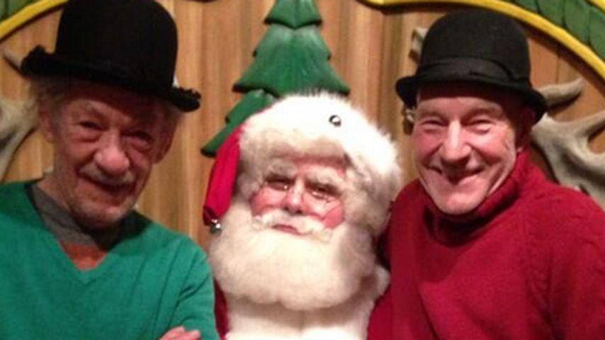 Ian McKellen: Auch bei Santa mit seinem Kumpel