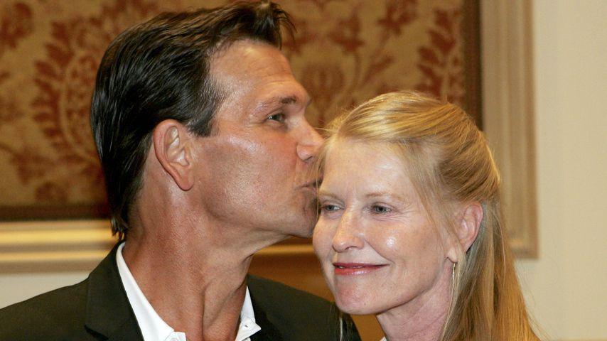 Patrick Swayze mit seiner Frau Lisa Niemi im Juli 2005