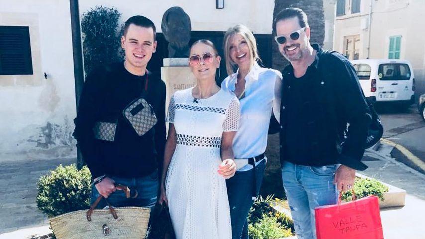 Patchwork-Glück: Jenny Elvers im Urlaub mit Sohn Paul und Ex