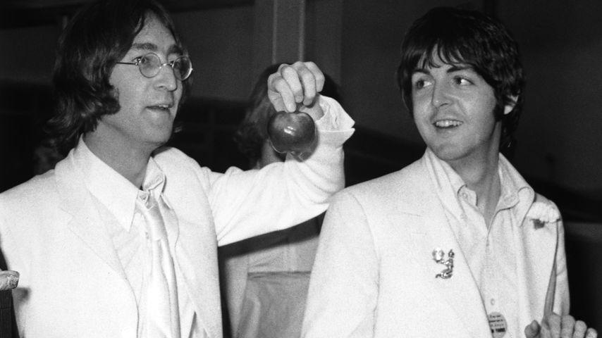 Paul Lennon und  Paul McCartney im Mai 1968