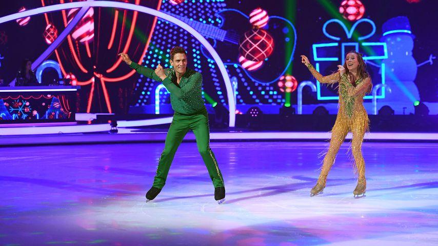 """Peer Kusmagk und Kat Rybkowski bei der fünften Show von """"Dancing on Ice"""""""
