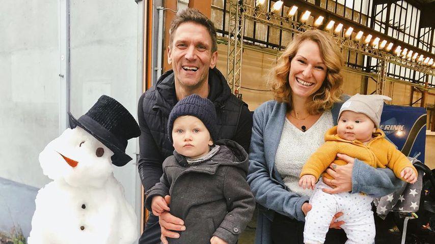Peer und Janni Kusmagk mit ihren Kindern