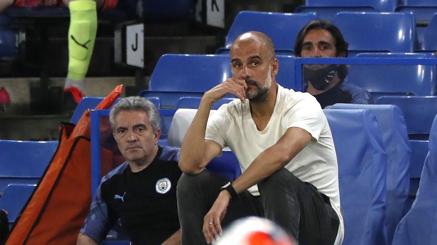Pep Guardiola bei der Partie Manchester City gegen FC Chelsea