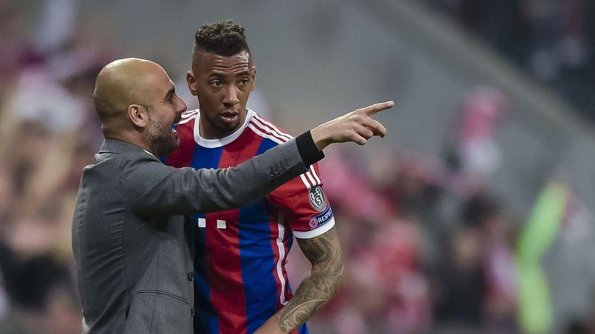 Jérôme Boateng und Pep Guardiola