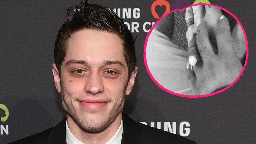 Pete Davidson: Hier zeigt er stolz Arianas Verlobungs-Ring!
