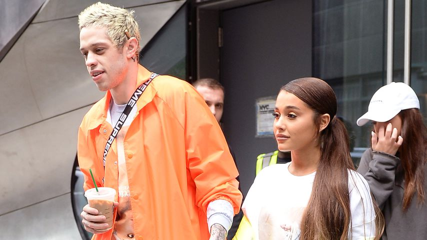 Pete Davidson und Ariana Grande im August 2018