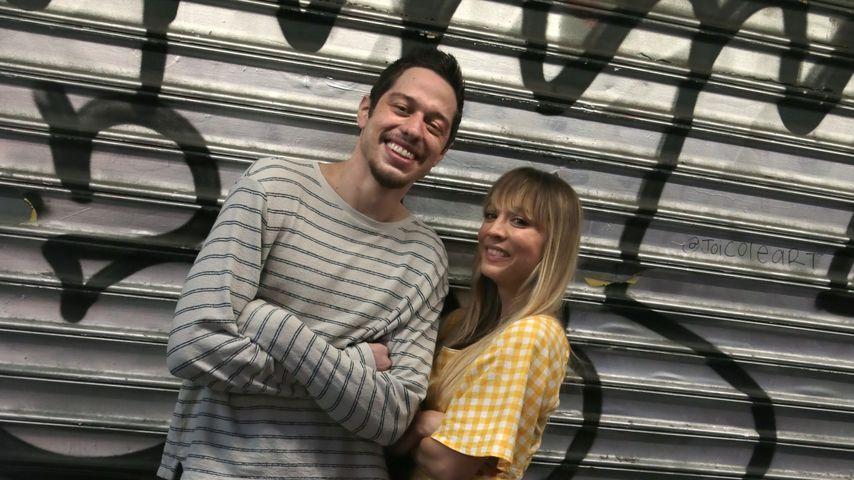 """Pete Davidson und Kaley Cuoco am Filmset von """"Meet Cute"""""""