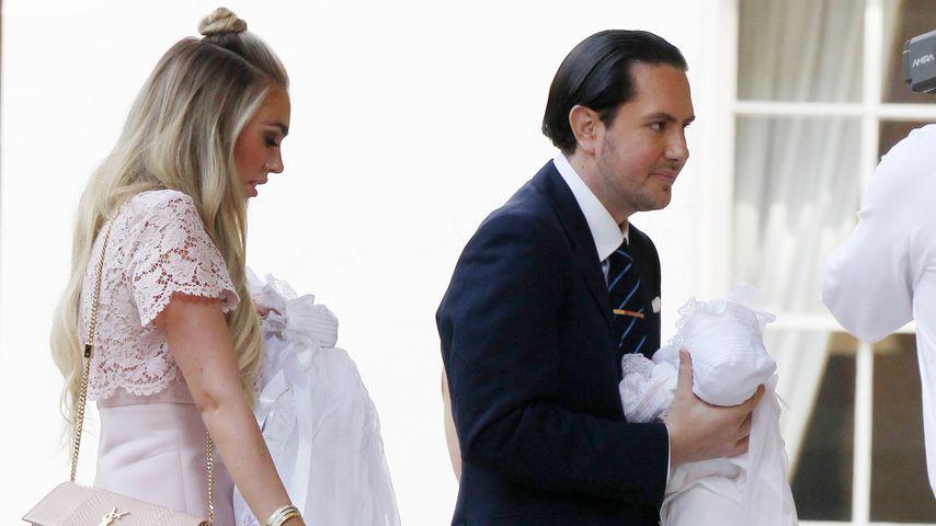 Petra Ecclestone und James Stunt mit ihren Kids