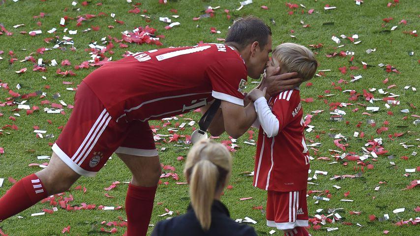 Philipp Lahm mit Sohn Julian