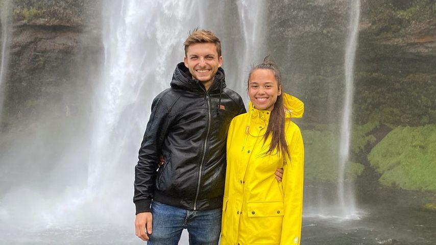 Philipp Mickenbecker mit seiner besten Freundin Janet
