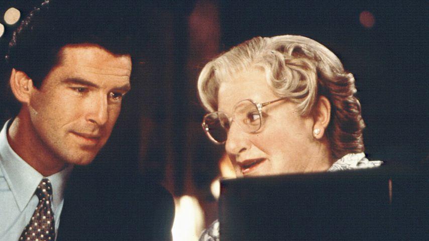 """Pierce Brosnan und Robin Williams in """"Mrs. Doubtfire"""""""
