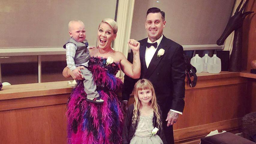 Pink und Carey Hart mit den Kindern Jameson Moon und Willow