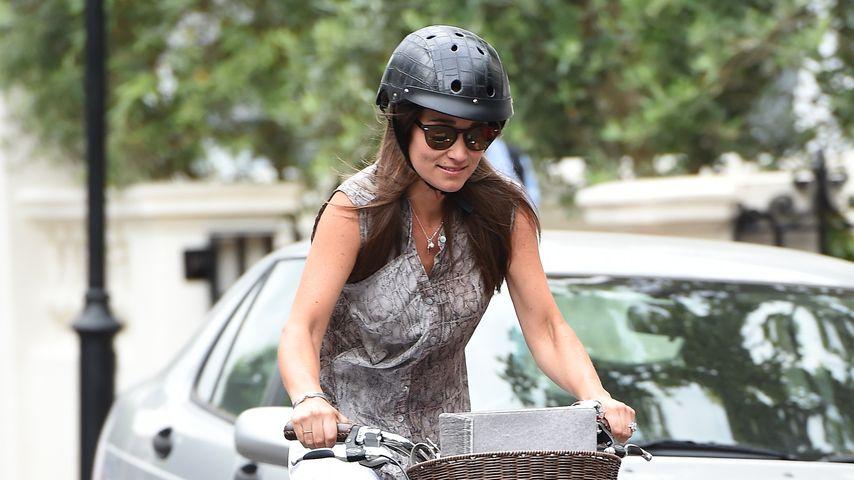 Pippa Middleton bei einer Radtour in London